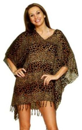 Plus Size Leopard / Animal Print Kaftan