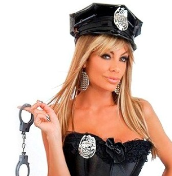 Police Cop Costume Accessories - Hat, Handcuffs & Badge