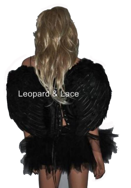Black / Dark Angel Feather Wings Med Size 60cm