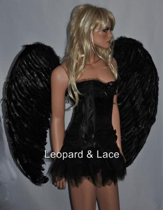 EXTRA LARGE Black Dark Angel Feather Wings 100cm