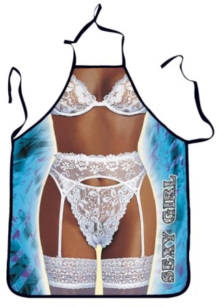 Sexy White Lace Lingerie Novelty Apron