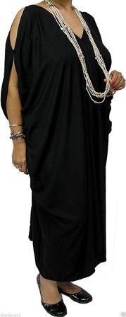 plus size cold shoulder toga dress  black or white size