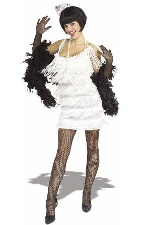 Broadway Babe White Flapper Costume