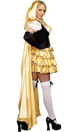 Sexy Goldilocks Costume - Dress, Cape & Gloves