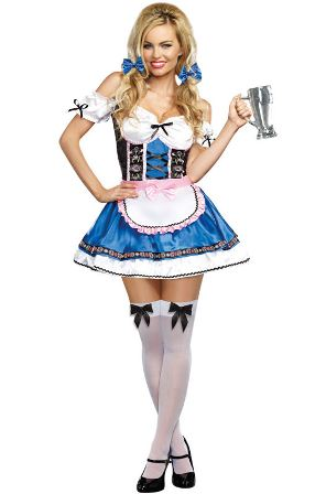 German Bavarian Bar Girl Oktoberfest Costume