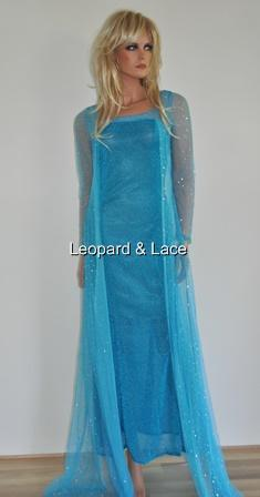 Adult Womens Sparkle Frozen Snow Queen Princess Elsa Costume