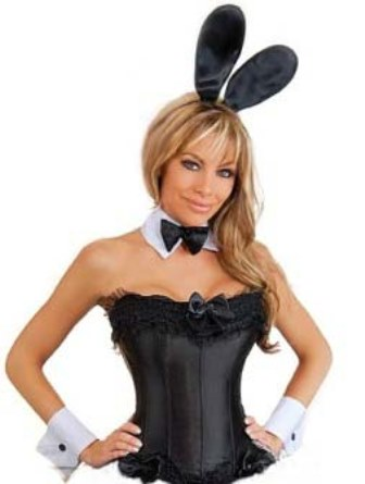 Plus Size Playboy Bunny Corset & Accessories (Black)