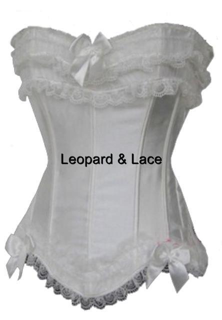 White Burlesque Corset/Bustier