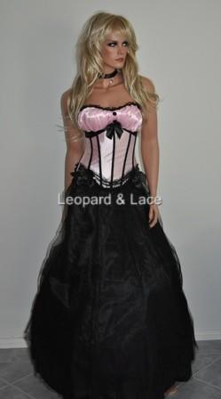 Pink Corset Bustier Top Gathered Bust
