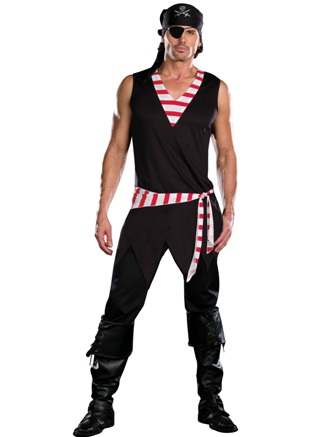 Mens 'Ships Ahoy' Pirate Costume
