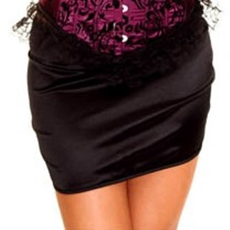 Black Mini Skirt / Petticoat Slip
