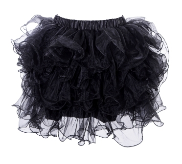 Black Multi Layered Ruffle Tutu Petticoat Mini Skirt 2XL