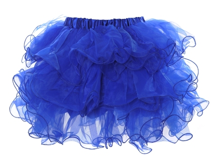 Blue Multi Layered Ruffle Tutu Petticoat Mini Skirt