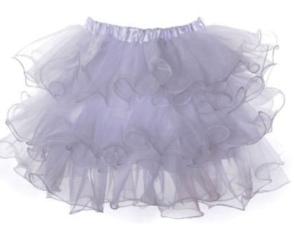 White Multi Layered Ruffle Tutu Petticoat Mini Skirt